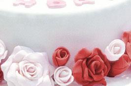 + rote kleine Rosen