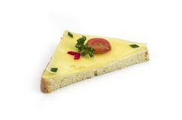 Diagonales Canapé Emmentaler-Käse, 2 Stk.