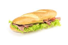 Amerikasandwich mit Salami