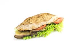 Vegi-Sandwich Auberginen & Zucchetti mit Dinkelbrot