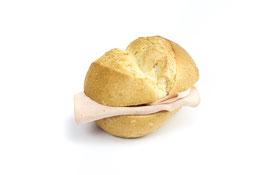 Semmeli-Sandwich mit Fleischkäse