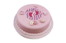 Amerikatorte rund Baby rosa