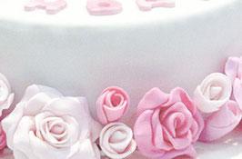 + pinke kleine Rosen