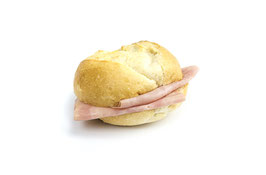 Semmeli-Sandwich mit Schinken
