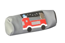 """Leder Federtasche """"Feuerwehr"""" für Kinder, (Stifttasche, Schlampermäppchen, aus 100% Leder) individuelle Gestaltung"""