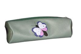 """Leder Federtasche """"Schmetterling"""" für Kinder, (Stifttasche, Schlampermäppchen, aus 100% Leder) individuelle Gestaltung"""