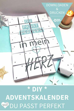 DU PASST PERFEKT: DIY Adventskalender zum Ausdrucken