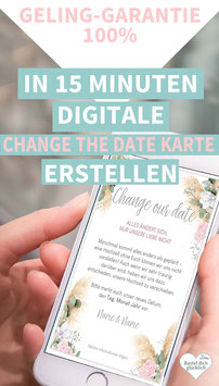 PAMPAS-LOVE: DIGITALE CHANGE THE DATE KARTE
