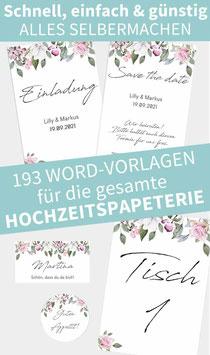 ROSE: 193 Word-Vorlagen zum Ausdrucken