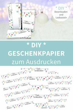 Christbaumkugeln- Geschenkpapier zum Drucken