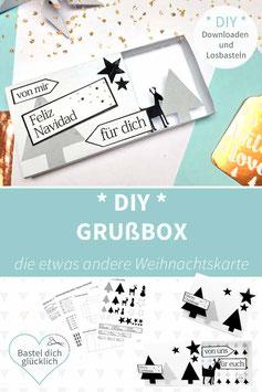 DIY WEIHNACHTSKARTEN: GRUßBOX