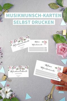 ROSE: MUSIKWUNSCH-KARTEN