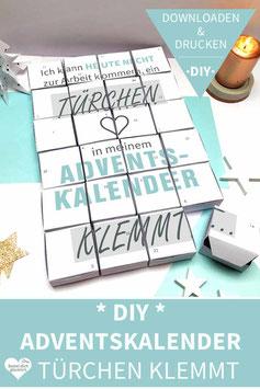 TÜRCHEN KLEMMT: DIY Adventskalender zum Ausdrucken