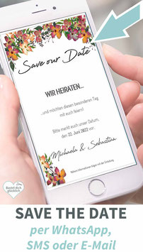 ANEMONEN: DIGITALE SAVE THE DATE KARTE
