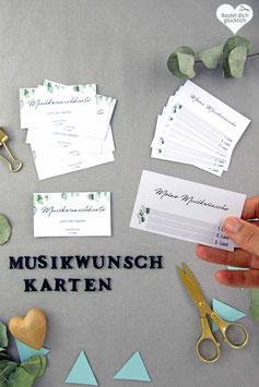 EUKALYPTUS: MUSIKWUNSCH-KARTEN
