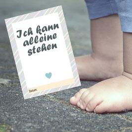 21 MEILENSTEIN-KARTEN: Babys 1. Jahr