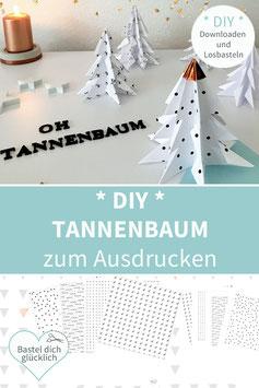 DIY Tannenbäume ZUM DRUCKEN