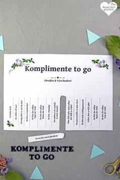 BOHO: KOMPLIMENTE TO GO