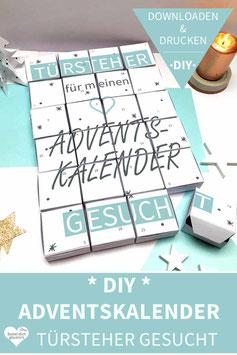 TÜRSTEHER GESUCHT: DIY Adventskalender zum Ausdrucken
