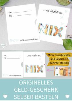 GELDGESCHENK KARTE: NIX