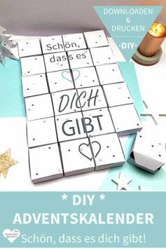 SCHÖN, DASS ES DICH GIBT: DIY Adventskalender zum Ausdrucken