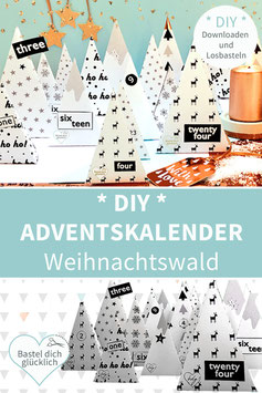 WEIHNACHTSWALD - DIY-Adventskalender zum Drucken