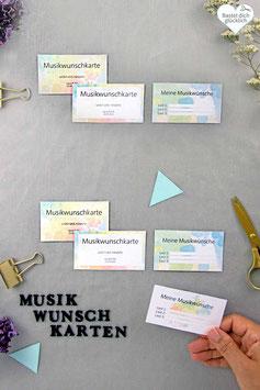 FARBENFREUDE: MUSIKWUNSCH-KARTEN