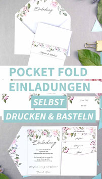 ROSE: POCKET FOLD EINLADUNG
