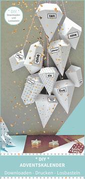 DIAMONDS - DIY Adventskalender zum Drucken