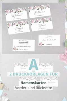 ROSE: NAMENSKARTEN