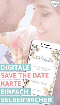 PAMPAS-LOVE: DIGITALE SAVE THE DATE KARTE