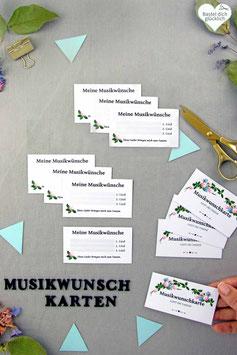 BOHO: MUSIKWUNSCH-KARTEN