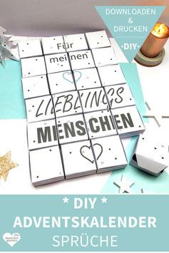 LIEBLINGSMENSCH: DIY Adventskalender zum Ausdrucken