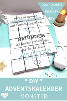 MONSTER: DIY Adventskalender zum Ausdrucken