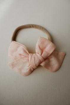 Musselin Haarschleife - Rosa