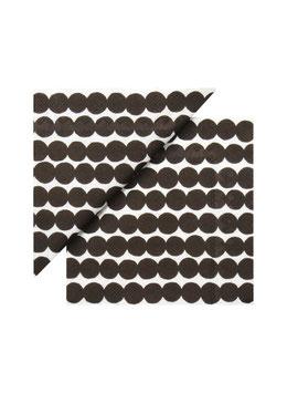 Marimekko Papier Servietten Räsymatto Black
