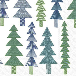Marimekko Papier Servietten Kuusikossa Green