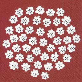 Marimekko Papier Servietten Puketti Dark Red