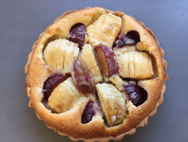 Apple and Plum Custard Tart
