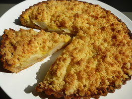 Apple, Custard and Crumble Tart