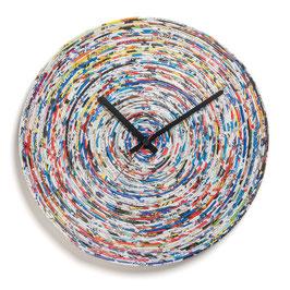 Recycling Wanduhr aus Zeitschriften
