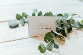 """Karte """"Liebesversprechen für immer deins"""" mit Umschlag (Silberglanz-Optik)"""
