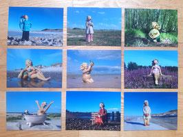 10er Postkarten Set