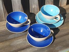 Steinzeugkeramik innen farbig -Blau mit Verlauf