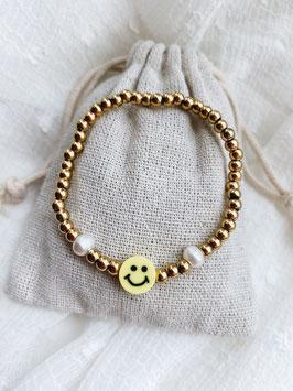 Perlenarmband Happy Face
