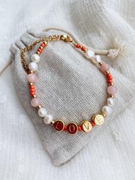 Perlenarmband golden Love