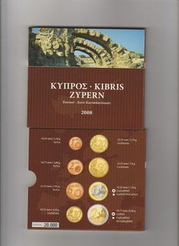 Zyperns 1. offizieller Kursmünzensatz 2008