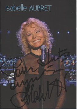 Autogramm Isabel Aubret