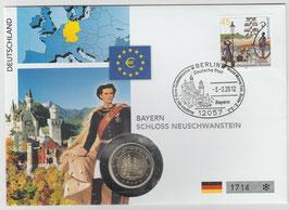 Numisbrief 2,- € Motiv: Schloss Neuschwanstein