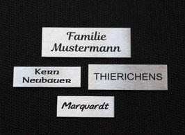 Edelstahlschild, Klingelschild,Briefkastenschild,Türschild,Namensschild